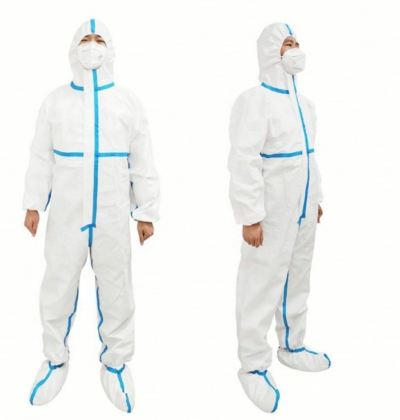 Tyvek 70 GSM  Coverall Isolation Suit SMS/PP+PE
