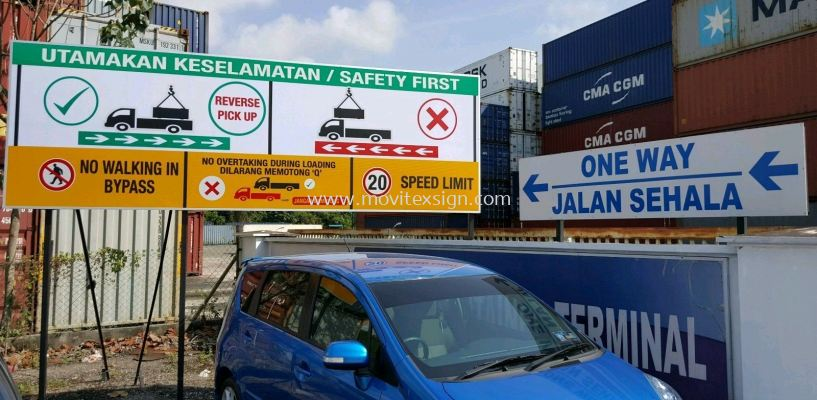 safety Signboard or assembly point (click for more detail)