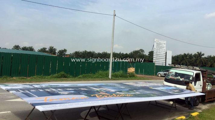 Construction Project signboard at KualaLangat Taman Bentana