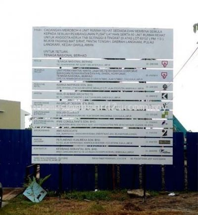 Construction Project signboard at KualaLumpur,wilayah