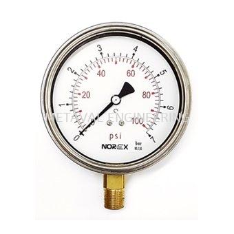 NOREX Semi Stainless Steel Pressure Gauge