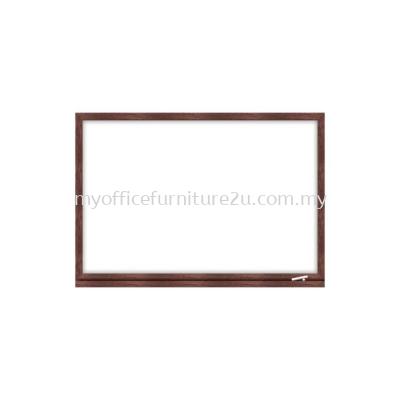 Wooden Frame Melamine Magnetic Whiteboard (600H x 900L mm)