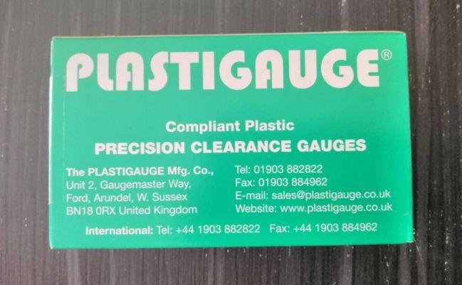 "PLASTIGAUGE GREEN ""C"" BEARING CLEARANCES"