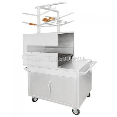 Stainless Steel Chicken Wing Stall w 6 pcs Fork