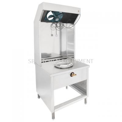 Stainless Steel Mee Goreng Stall with Fan