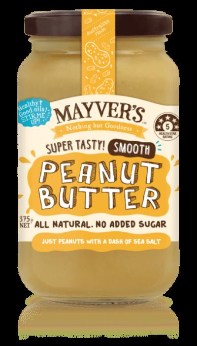 MAYVER��S Peanut Butter Smooth 375g