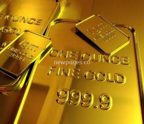 Gold bar with name