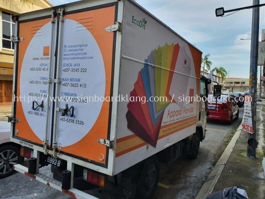 Truck Box lorry sticker printing warping at klang Kuala Lumpur Selangor petaling jaya puchong subang cheras shah alam