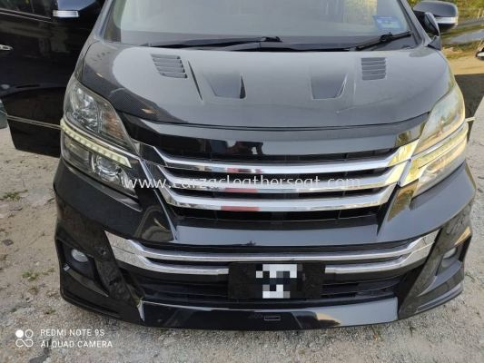 TOYOTA VELLFIRE V6 REPLACE SYNTHETIC LEATHER