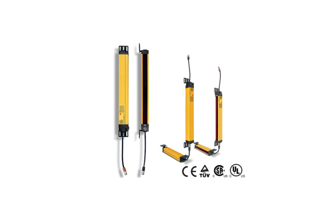 OMRON MS4800 Series . Safety Light Curtains with Durable, Impact-resistant Body and Long, 20-m Sensi