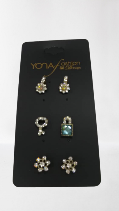 LATEST COLLECTION COLORFUL AND SMALL STONE MULTICOLOR EARRINGS.