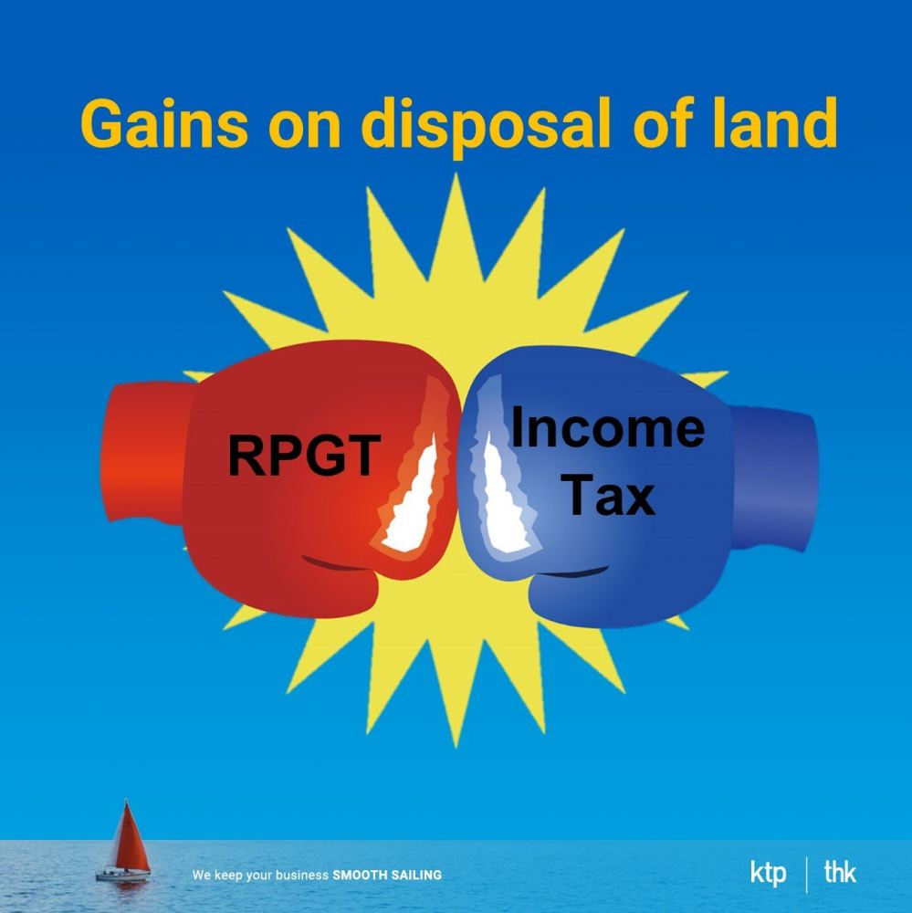Real Property Gain Tax vs Income Tax on Gain on disposal of property/land