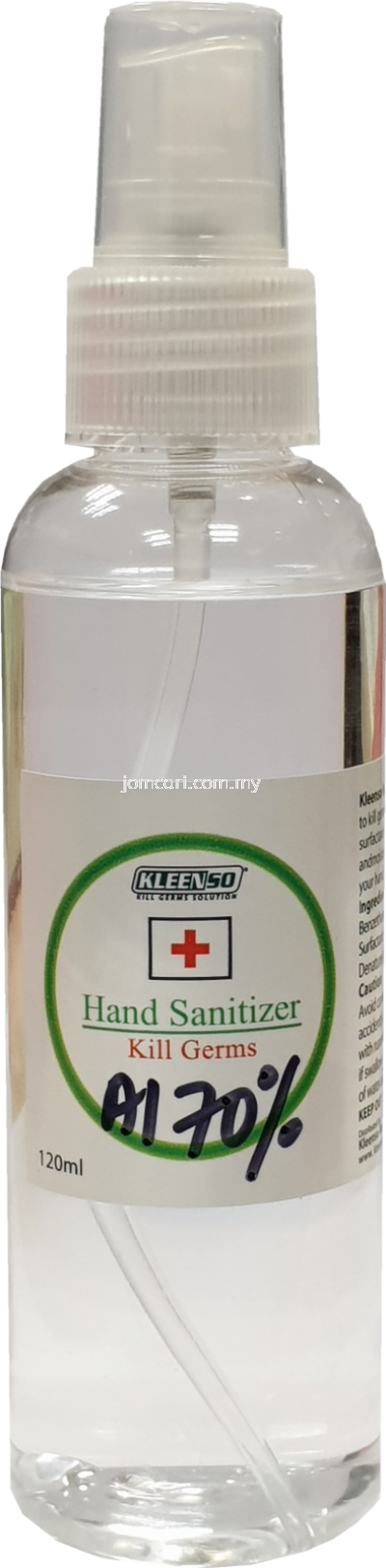 KLEENSO 100ml Hand Sanitizer 70% Alcohol with Moisturizer (Alcohol Type)