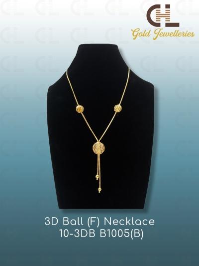 3D BALL(F)NECKLACE 10-3DB F1005(B)