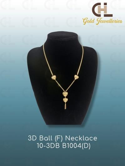 3D BALL (F) NECKLACE  10-3DB B1004(D)