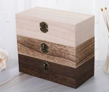 Wooden Box Rectangle Clamshell box