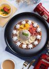 Mix Fruit Waffle with Vanilla Ice Cream 杂果松饼(香草雪糕) Dessert