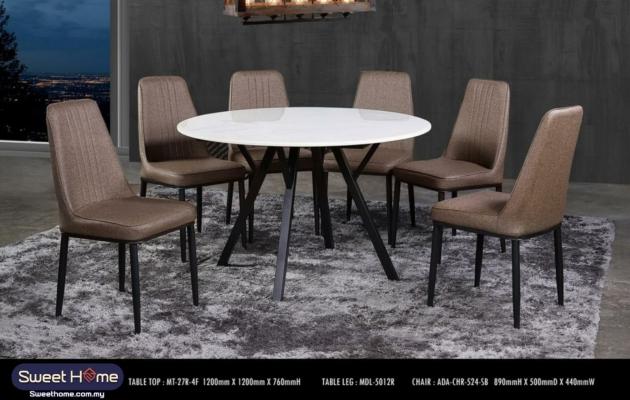 4ft Ceramic Sintered stone 6 seaters full set 1+ 6 Dinning Table