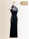 QP004 Cut-in Maxi Qipao Maxi Dresses Sales & Deals