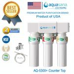 (COUNTER TOP) AQUASANA AQ-5300+ Water Filter Water Purifier Filte (4 NSF Approved, 2 Years Warranty)