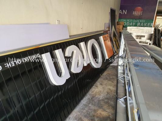 Oren Sport Aluminum ceiling trim casing 3D LED channel box up lettering frontlit signage signboard at Petaling jaya Kuala Lumpur