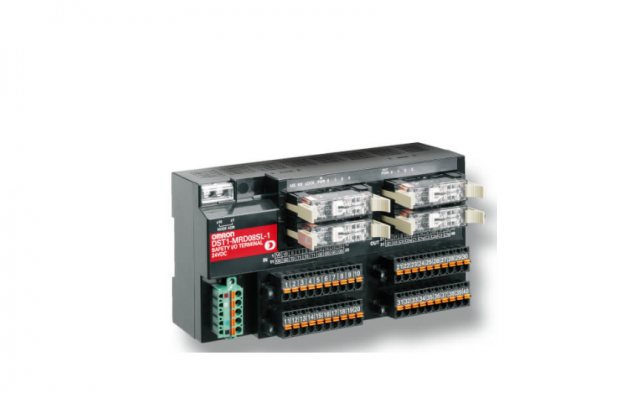 OMRON DST1 Series Distributed Safety Terminals That Reduce Wiring.