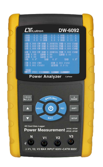 LUTRON DW-6092 3 Phase Power Analyzer