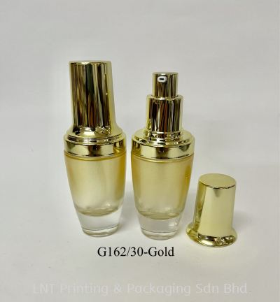 G162/30-Gold -30ml Gold Glass Bottle