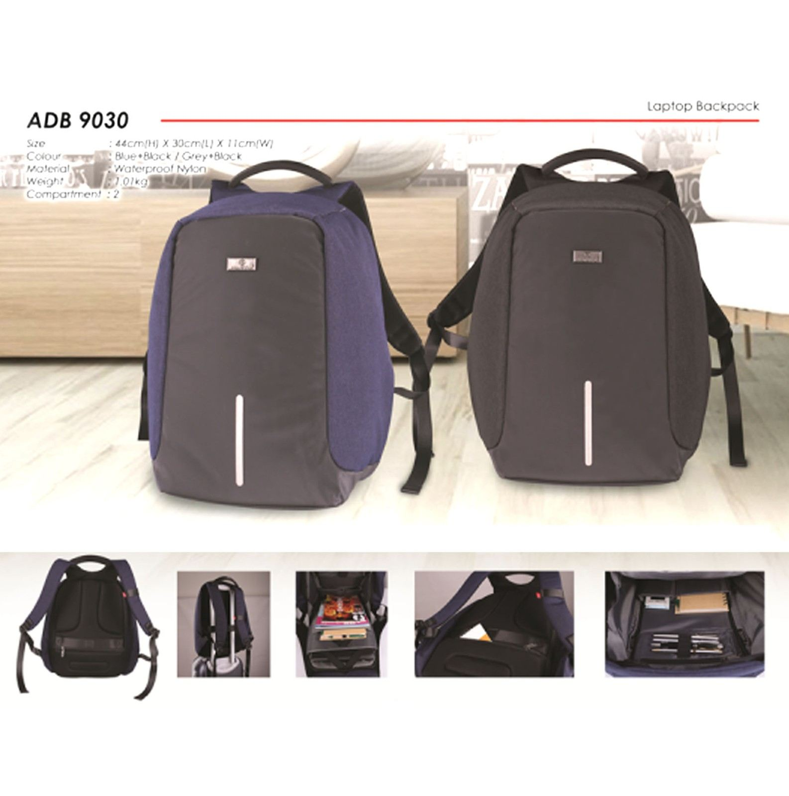 ADB9030 Laptop Backpack (A)