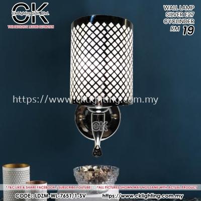 CK LIGHTING WALL LAMP MINIMALIST SILVER (LDZM-WL-7651/1-SV)