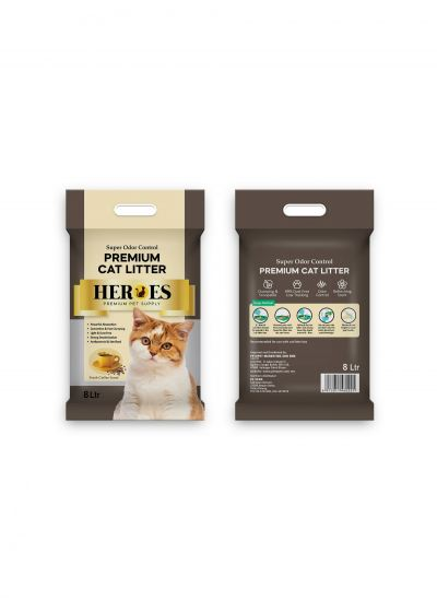 60221 Heroes 8L Cat Litter - Coffee