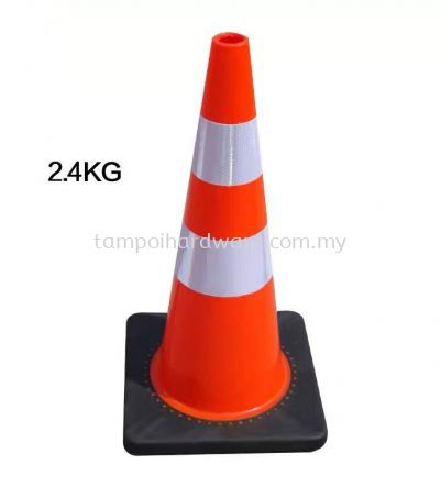 """Safety Cone With Rubber Base - 30"""""""