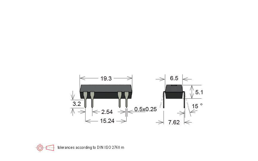 Standex DIP05-1B72-19L Series Reed Relay