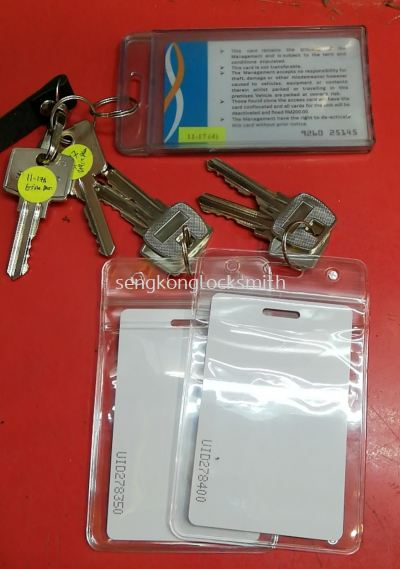 access card and key duplicate