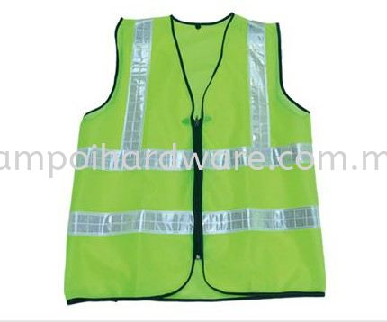 Cloth Safety Vest Zip with 4 Reflective Belt Coverall & Vest Personal Protective Equipments