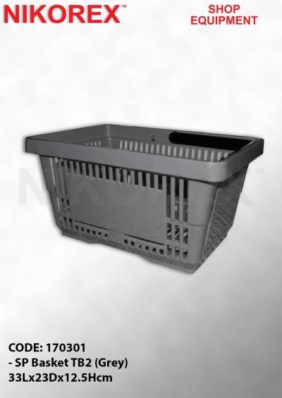 170301 - SP Basket TB2 (Grey) 33Lx23Dx12.5Hcm