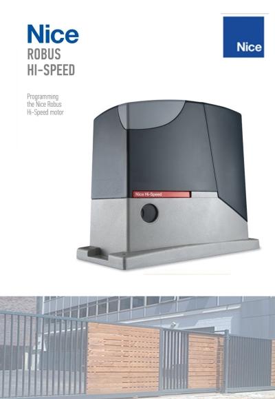 NiceRobus Hi-Speed Sliding Gate Motor