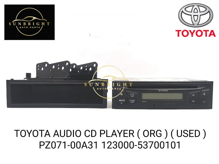TOYOTA AUDIO CD PLAYER ( ORG ) ( USED ) PZ071-00A31 123000-53700101