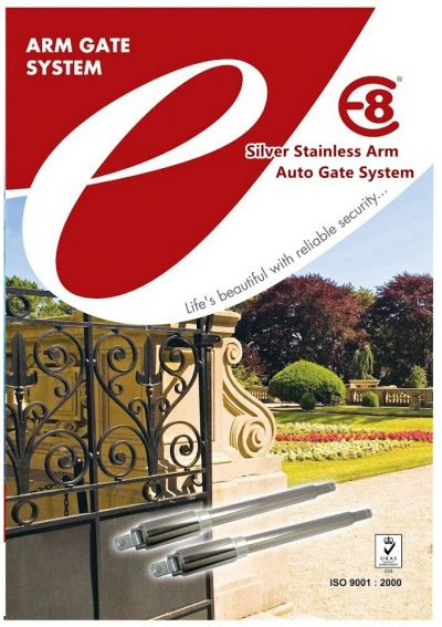 E8 DC Silver Stainless Swing Gate System - Model E-3000