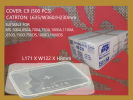 MS-1000DS BASE ONLY RECTANGULAR CONTAINER (500 PCS) COMPARTMENT / YU SANG CONTAINER MICROWAVEABLE PLASTIC CONTAINNER
