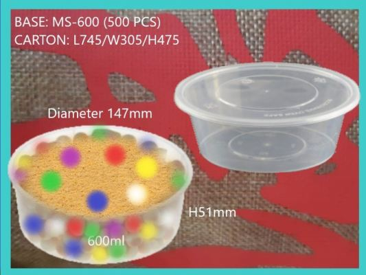 MS-600 BASE ONLY ROUND MEDIUM CONTAINER (500 PCS)