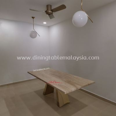 Luxury Beige Dining Table | Nuvalato | 8 Seaters