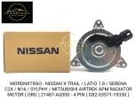 MORDNXTRAO - NISSAN X-TRAIL / LATIO 1.8 / SERENA C24 / N16 / SYLPHY / MITSUBISHI AIRTREK APM RADIATOR MOTOR ( ORG ) 21487-AU000 - 4 PIN ( G82-03571-19350 )