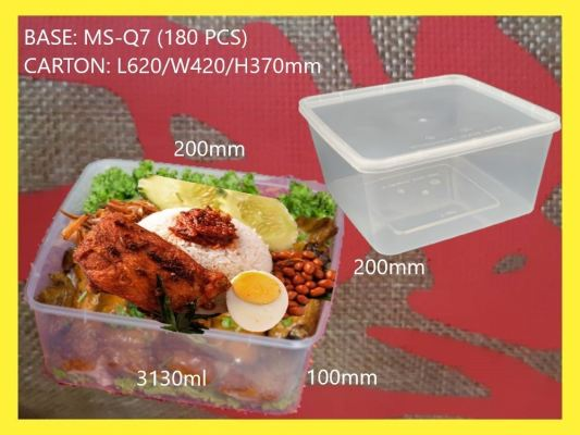 MS-Q7 BASE ONLY SQUARE LARGE CONTAINER (180 PCS)