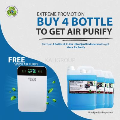 Purchase 4 of 5 Litre Hand Sanitizer @ FREE Vinor Air Purify