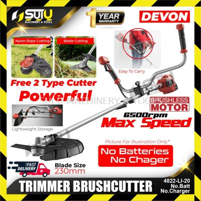 DEVON 4822-LI-20 (Solo/Bare) Electric Brushless Cordless TRIMMER BRUSHCUTTER Lithium with Charge