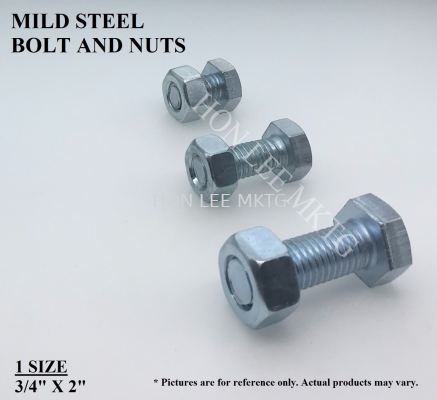 "[3/4""X2""] MILD STEEL BOLT & NUT"