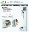 FOOT OPERATED HAND SANITIZER DISPENSER STAND Hygiene Products