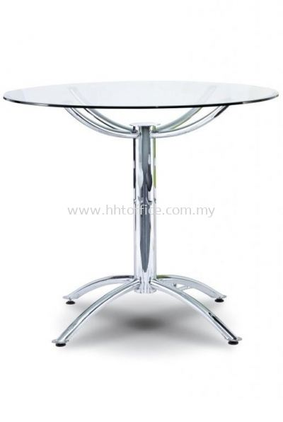 P4-T90 Round Glass Discussion Table