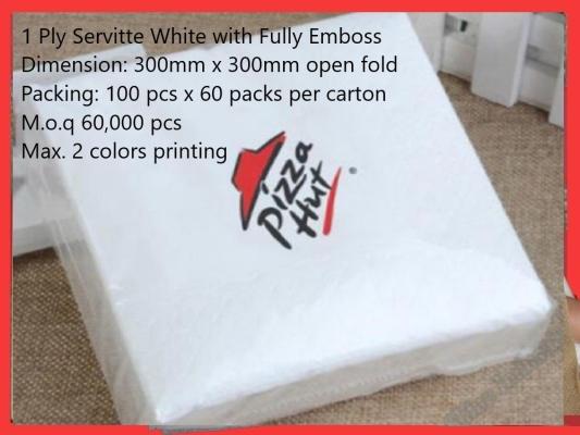 1 Ply Servitte Logo Printing M.oq (60,000 pcs)